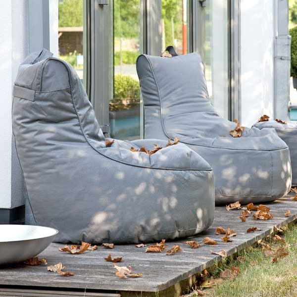 outdoor sitzsack wasserfest grijzemuren. Black Bedroom Furniture Sets. Home Design Ideas