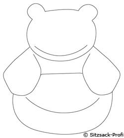 Sitzsack tier sitzsack von lux lederoptik wei motiv for Sofa zeichnen kinder