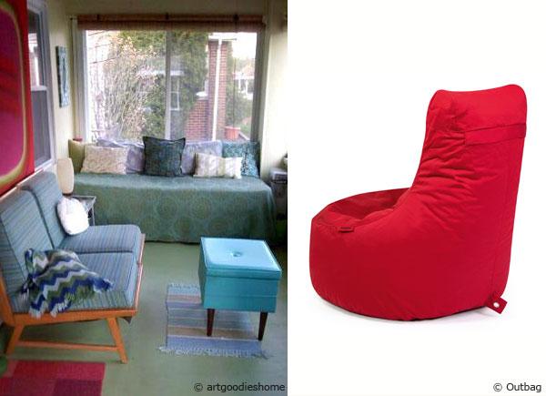 mit dem sitzsack rote akzente setzen sitzsackprofi. Black Bedroom Furniture Sets. Home Design Ideas