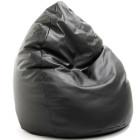 Sitzsack aus Leder und in Schwarz