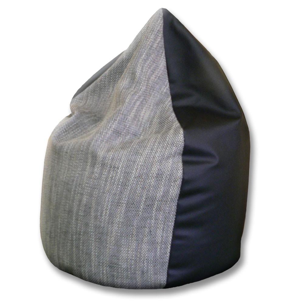 sitzsack schwarz grau grijzemuren. Black Bedroom Furniture Sets. Home Design Ideas